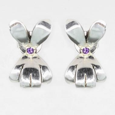 Kolczyki Double Violet