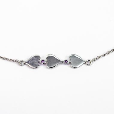 Naszyjnik Violet Heart